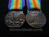 MINIATURE WW1 INTER ALLIED VICTORY MEDAL ITALIAN (ITALY)